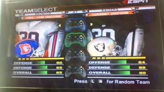 ESPN NFL 2K5 Broncos Custom Season Game 12:Denver Broncos vs. Oakland Raiders