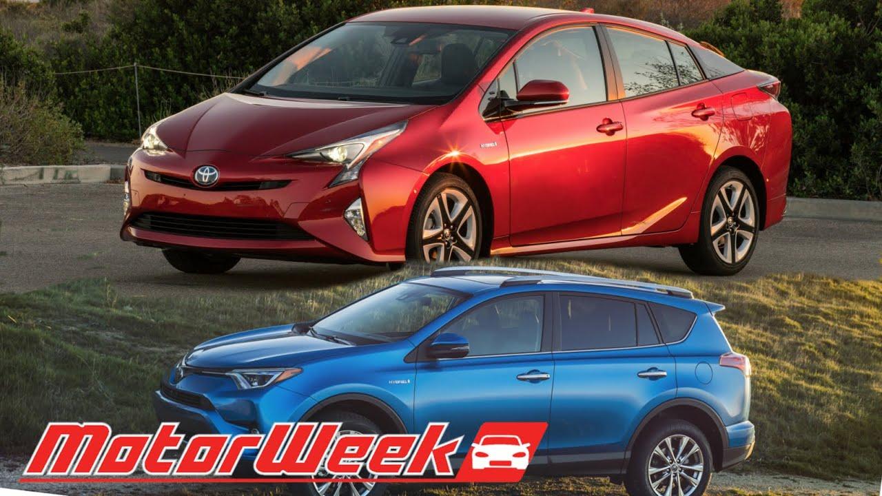 Motorweek First Look 2016 Toyota Prius And Rav4 Hybrid