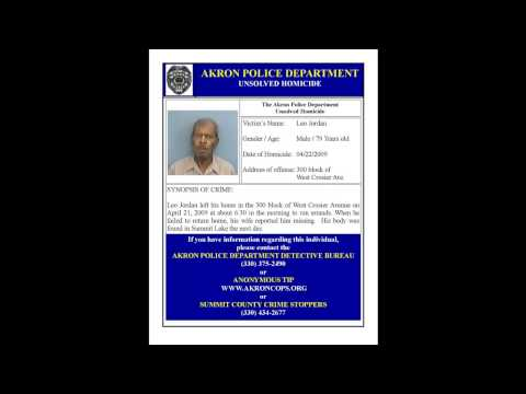 Akron Police Unsolved Homicides