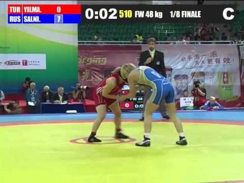 FW 48 1/8 Final 2012.04.29 TUR RUS E. YILMAZ L. SALNIKOVA