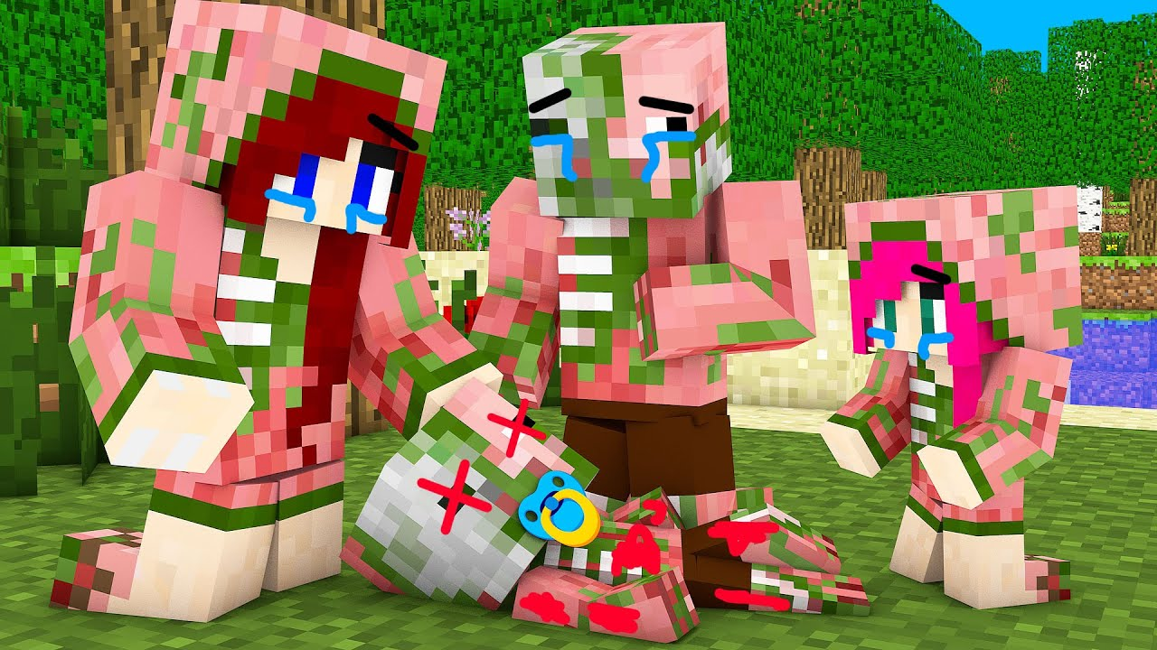 Monster School : ZOMBIE PIGMAN BABY SAD STORY CHALLENGE - Minecraft Animation