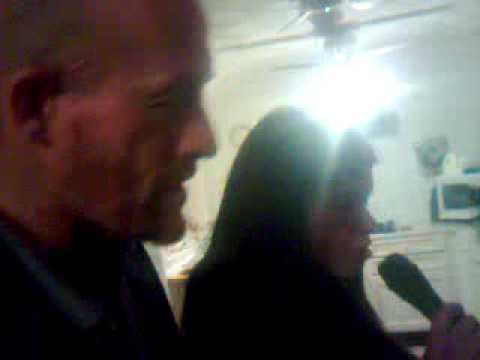 tanner and gary howard singing on karaoke