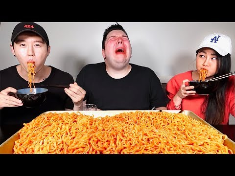 13X Spicy Nuclear Fire Noodles • New Limited Edition • MUKBANG