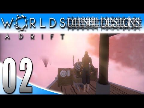 Worlds Adrift Alpha Gameplay :EP2: Building & Flying My First Ship! (PC MMO SandBox HD)