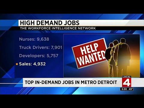 Top in-demand jobs in Metro Detroit