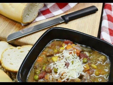 Beef Minestrone Slow Cooker Recipe - Easy Crockpot Stew   RadaCutlery.com