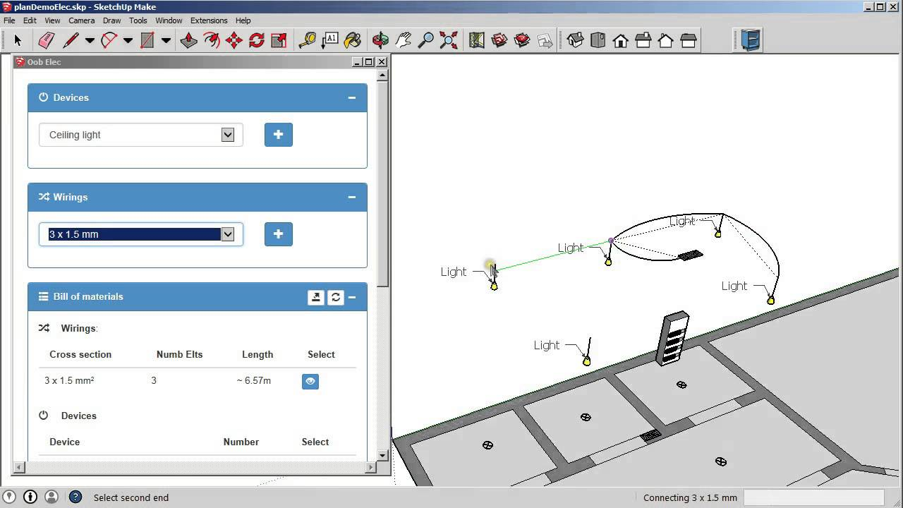 sketchup electrical plugin youtube rh youtube com electrical diagram sketchup