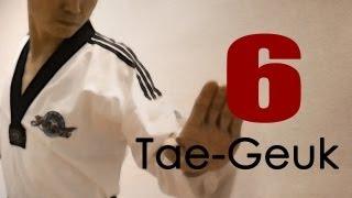 WTF Taekwondo poomsae Taegeuk 6 Jhang (Explanations) 태극 6장 : TaekwonWoo