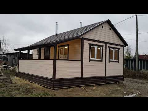 Дом баня с двумя печами и террасой ч 2