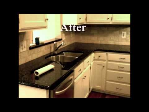 charlotte kitchen cabinets small design photos verde butterfly granite-white cabinets-charlotte nc-6-18 ...