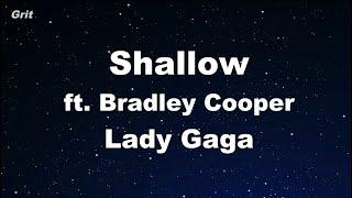 Download Shallow - Lady Gaga, Bradley Cooper Karaoke 【No Guide Melody】 Instrumental Mp3 and Videos