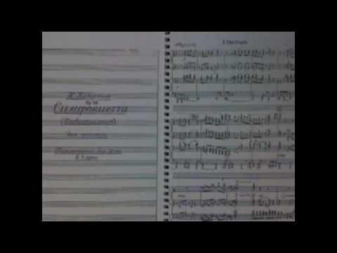 "KAPUSTIN : 1st mov. from ""Sinfonietta"" Op.49 (for Piano 4 hands)"