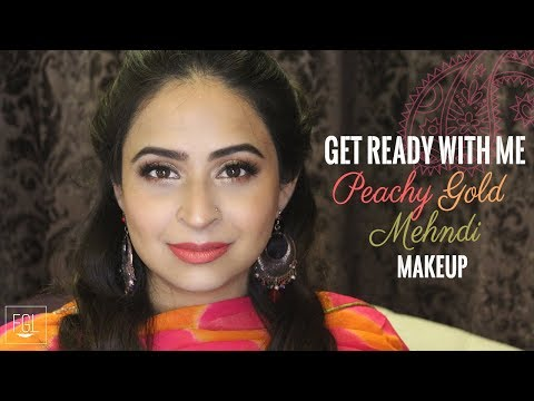 GRWM Warm Gold Mehndi Makeup | Food.Glam.Life