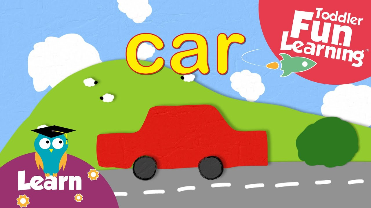 Learn Colours with Cars | Toddler Fun Learning | Pre-school words ...
