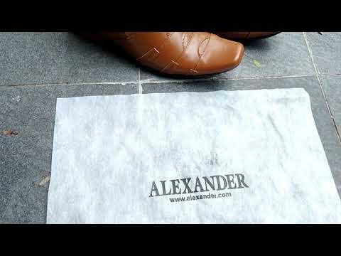 Sepatu pantofel boots kulit Alexander MS19 TAN