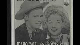 IDAHO CALL I 'LL Step Aside COAST 1945