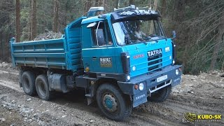 TATRA 815 - uphill on the forest road