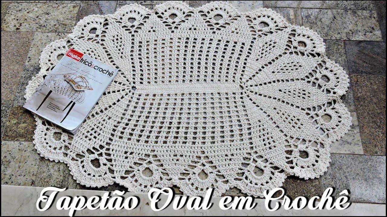 Tapete Oval Grande Para Sala De Todos Os Tipos With Tapete Oval  -> Tapete De Croche Oval Simples Passo A Passo