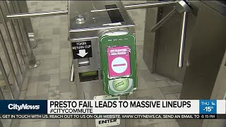 Gambar cover Broken Presto readers cause long lineups at Finch Station