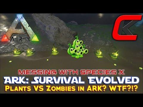 ARK: Survival Evolved  -  Species X Auto turret  PLANTS VS  ZOMBIES in Ark?
