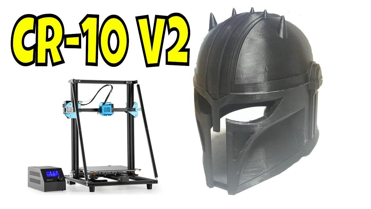 3D Printed Mandalorian Armorer Helmet on Creality CR-10 V2