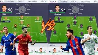 MELHORES DA PREMIER LEAGUE VS MELHORES DA LALIGA - FIFA 18 EXPERIMENTOS