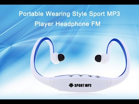BG - Portable Wearing Style Sport MP3 Player Headphone FM...