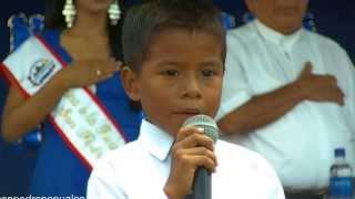 Oracion a la bandera salvadoreña - San Pedro Nonualco 2013