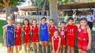 Triatlón de Tudela  - Benjamín Femenino - Tudela (Navarra) 5/07/2014