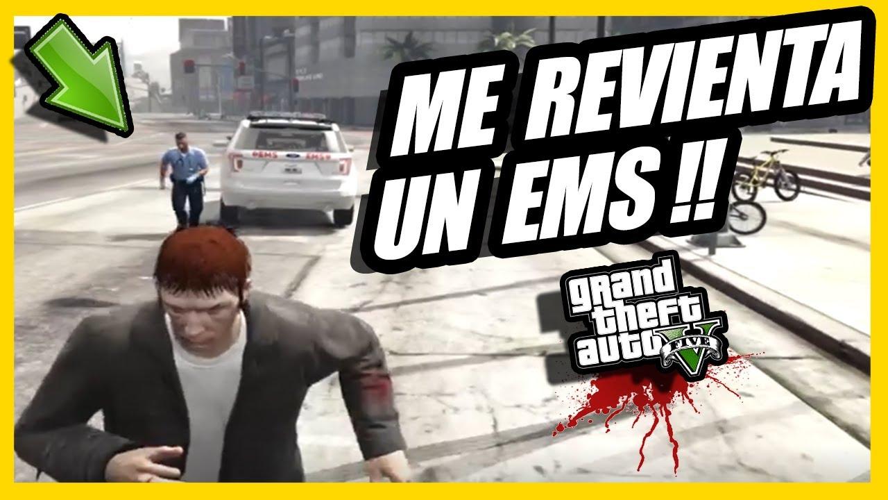 gta v roleplay | ME INTENTAN secuestrar Y UN ANTIROL lo EMBISTE! 😱☠️ | UN EMS se vuelve LOCO! 👊🏻💥