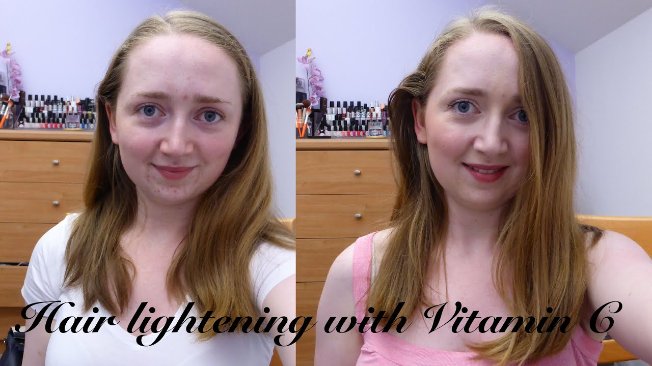 How To Lighten Your Hair Naturally With Vitamin C