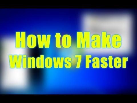 Making Windows 7 Faster For Laptop And Desktop Computer