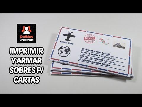 Imprimir y Armar Sobres Personalizados para Cartas Fácilmente.