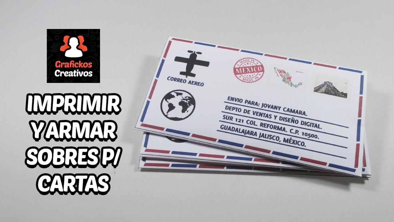 Imprimir y armar sobres personalizados para cartas f cilmente youtube - Sobre de navidad para imprimir ...