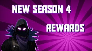 Fortnite Season 4 Battle Pass Rewards (They Put The Shoot Dance)