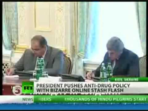 President of Ukraine Buys Cocaine & Marijuana Online