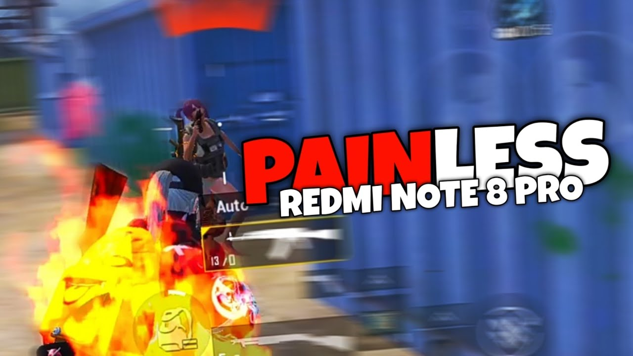 PAINLESS 💔😢 | 5 FINGERS+GYRO | REDMI NOTE 8 PRO | PUBG MOBILE