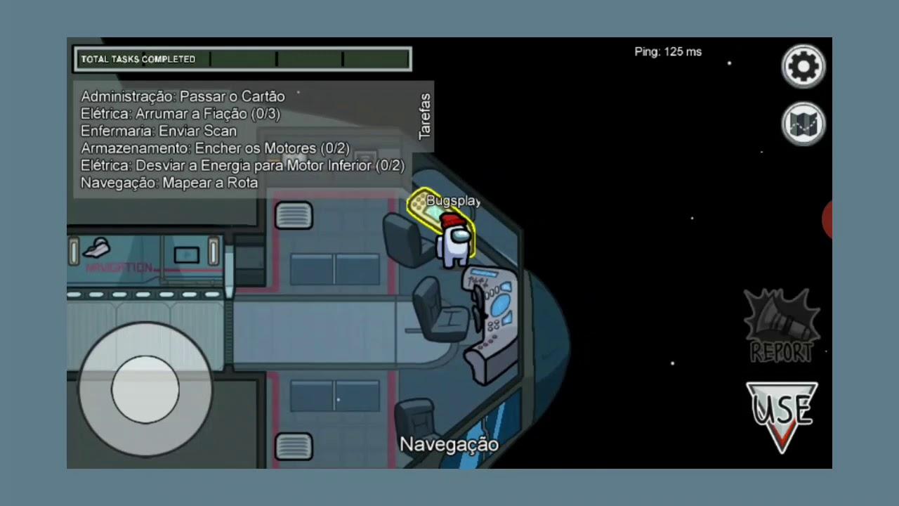 Primeiro video do canal de Among US Gameplay THE SKELD PT