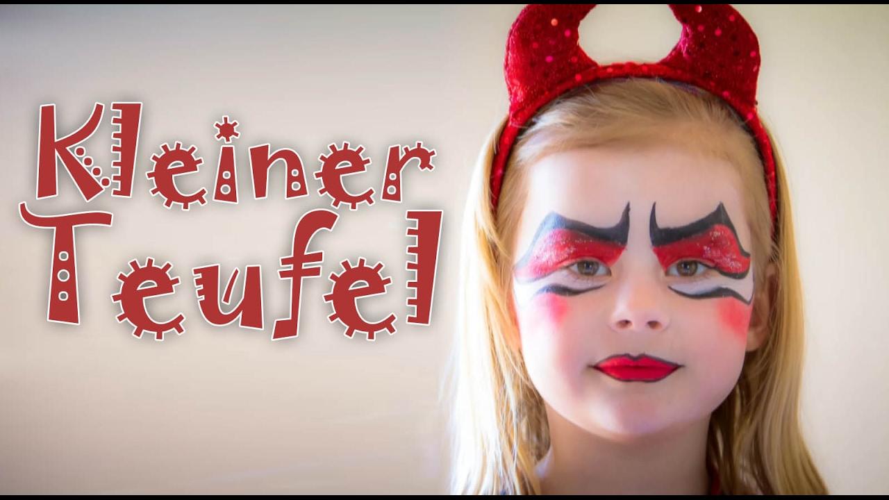 Kleiner Teufel Schminken Karnevalsteufelde Schmink Video