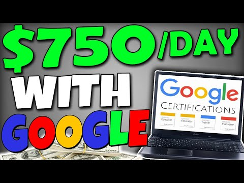 Get Paid $750 Daily Using Google CERTIFICATIONS (FREE) - Worldwide! (Make Money Online)