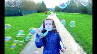 Bubbles Challenge/Blowing Bubbles in the sky/Kids Play