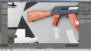 blender 3D tutorial bauen ein Gewehr (AK-47) TEIL 4