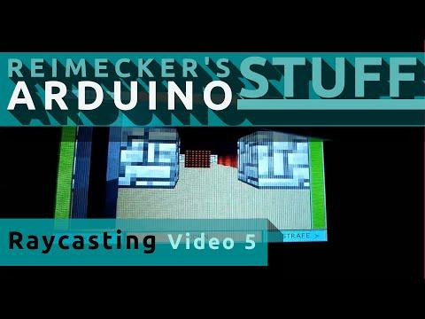 Arduino Raycasting Engine Versuch 5 / 16x16  Texturen / 3 Aufl�sungen / T�ren zum �ffnen