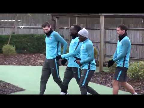 Chelsea train ahead of Barcelona