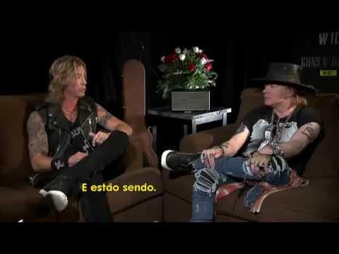EXCLUSIVE! Guns N' Roses 2016 Interview (ENGLISH):Axl Rose & Duff McKagan Brazil TV Fantás