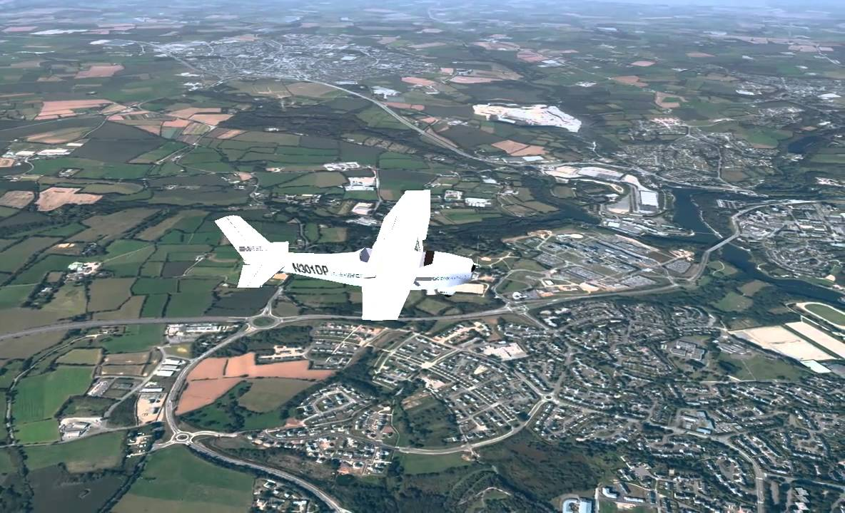 Flightgear photorealistic scenery - LFRB - Brest, France