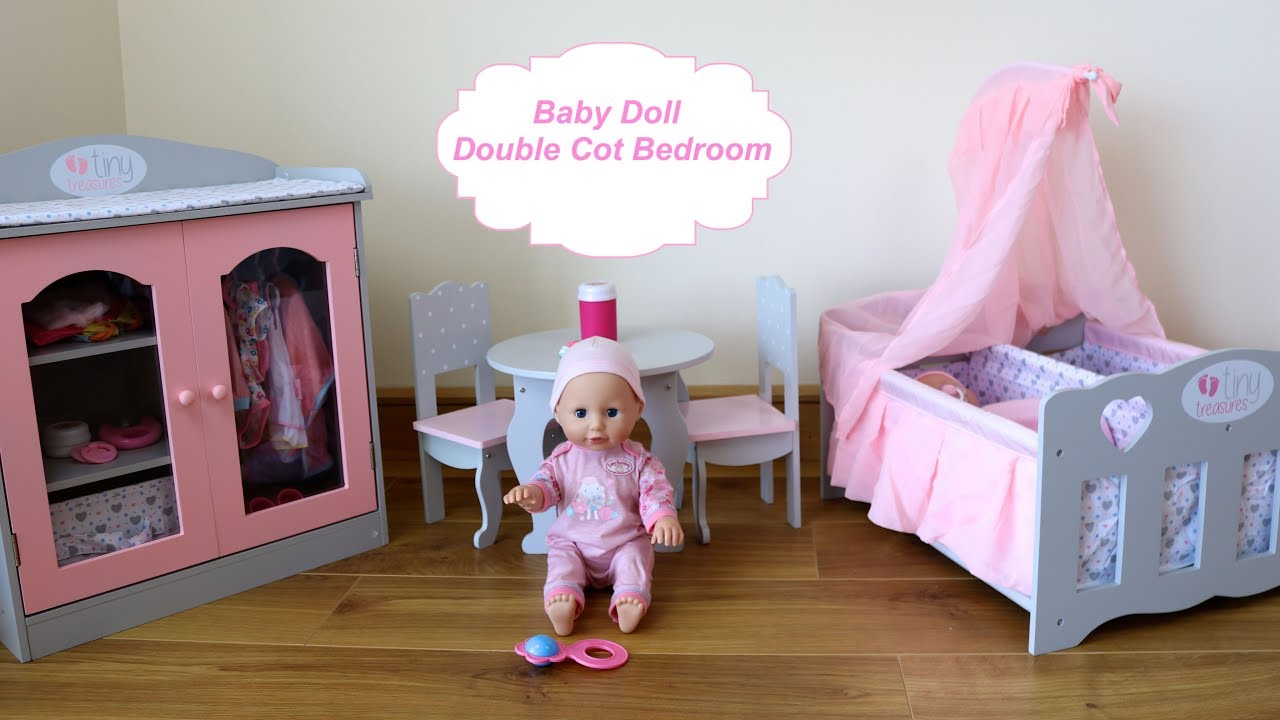 Baby Dolls Bedroom Double Cot Wardrobe Closet Baby Annabell Eat - Anna bell baby wardrobe