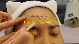 browwaxing 눈썹왁싱 kbeauty shinyk…