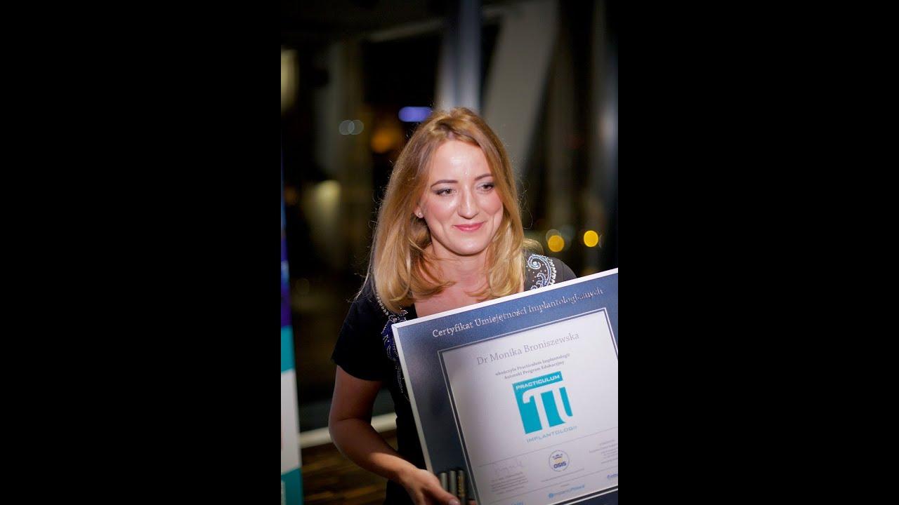 Dr Monika Broniszewska - Absolwentka VIII Sezonu Practiculum Implantologii