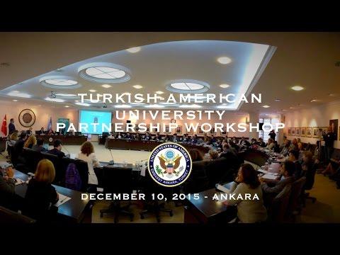 Türk Amerikan Üniversiteleri İşbirliği Çalıştayı - Ankara 2015